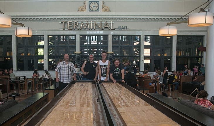 best shuffleboard table size
